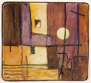 Mary Ann Inman, Moonlight on the Dock, c. 2009. Watercolor on polystyrene. Recognition of Excellence Award, Wisconsin Regional Art Program, UW–Madison.