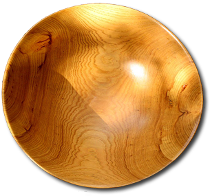 Harry Nohr, American Studio Craft Hand Carved Wooden Bowl, c. 1960. Birch wood.