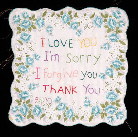 Leslee Nelson memory cloth: I love you