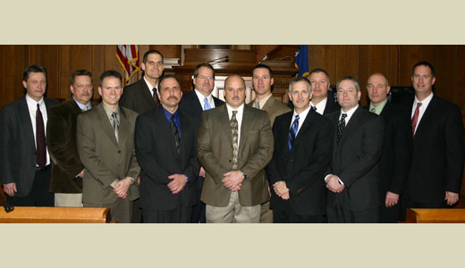 <h4>Graduates of the Southeast Wisconsin Law Enforcement Management Program at the Greenfield Police Department – February 5, 2010</h4>