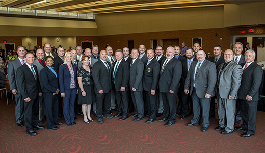 <h4>Graduates of the CPM Program – Wisconsin Law Enforcement Command College – June 2016</h4> <p>Left to right: Brad Wentlandt (program director), Brian Schuldes, Ryan Knoerschild, Tina Virgil, Daniel Sandberg, Doug Vierck, Erin Laehr, Paul Bushmaker, Steve Caballero, Stacy Lenz, Jason Veeser, Edward Hallett, John Laux, Samuel Wollin, Timothy Zarzecki, Kevin Hunter, Eric Lindstrom, Larry Moen, Brent Standaert, Christopher Zunker, Anthony Sheckles, Michael Blaser, Chad Enright, Sean Littlefield, Bradley Rabideau, Andrew Raatz, Matthew Wallander, David Gribble, Tracy Hom; not pictured: Brian Ezman, Christopher French</p>