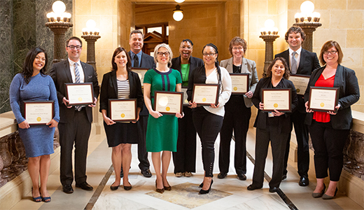 <h4>Graduates of the CPM Program – May 2019</h4> <p>Left to right:  Maria Redmond, Bryan Gadow, Lisa Creegan, James Poltrock, Danielle Block, Wanda Booker, Patricia Atkinson, Sarah Guenther, Sue Handrich-Herr, Christopher Ondercin, Molly Ross</p>