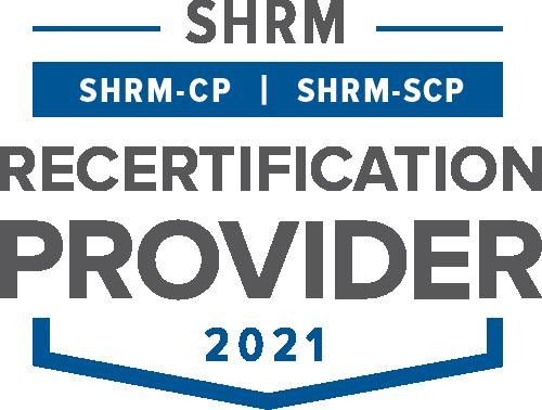 SHRM Recertification Provider 2021 seal