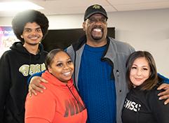 Baron with Corey, Jyneeva, and Tina.