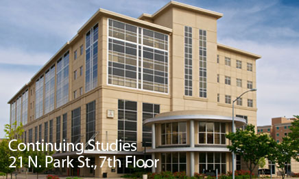 Continuing Studies is on the 7th floor of 21 N Park St, Madison, WI.