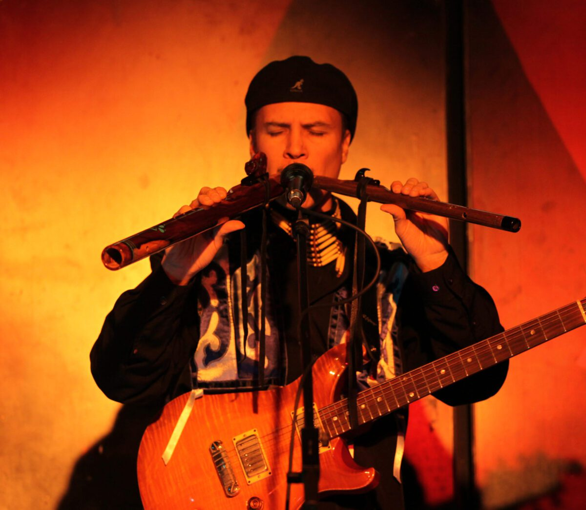 Wade Fernandez playing music