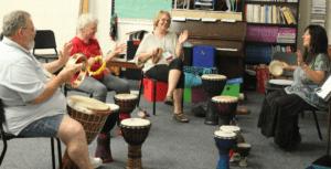 drum circle at School of the Arts at Rhinelander
