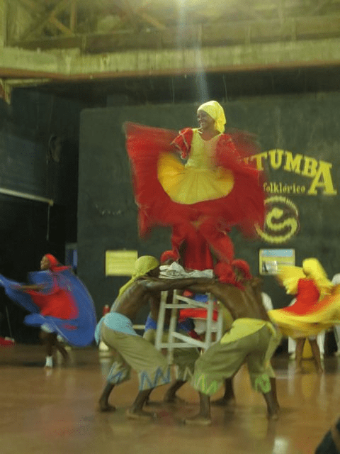 Cutumba Folkloric Dancers and Drummers.