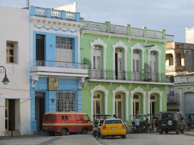 Renovated buildings in Camaguey, Cuba
