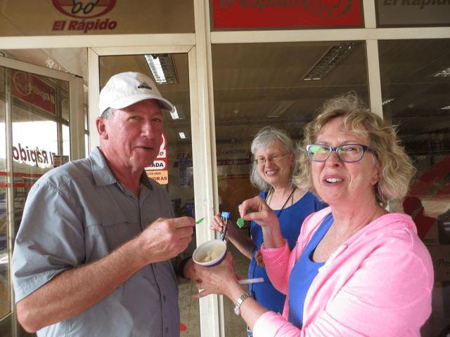 participants tasting ice cream