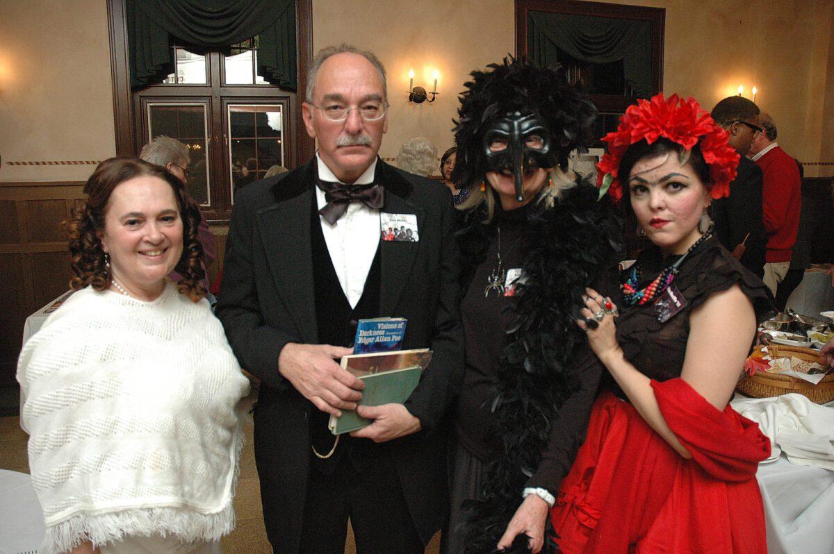 quartet in masquerade attire