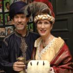 "Scott Cooper as Aladdin and Liz Cooper as Caroline Bingley from ""Pride and Prejudice."""