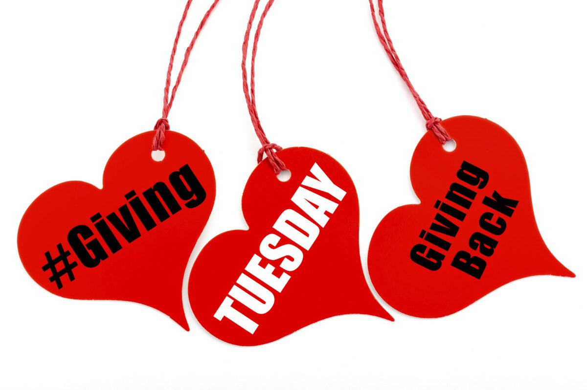 Giving Tuesday heart shape ticket