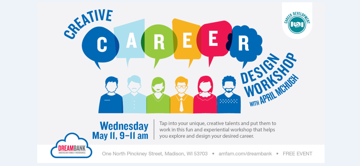 Creative Career Design workshop from the University of Wisconsin-Madison.