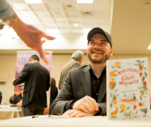 Ryan Stradal signs 'Kitchens of the Great Midwest.