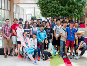group of ACE students at Wisconsin Institutes of Discovery