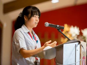 ACE student gives speech