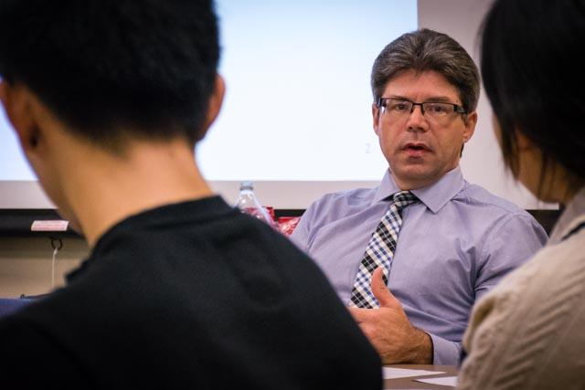 Jeff Russell talks in meeting