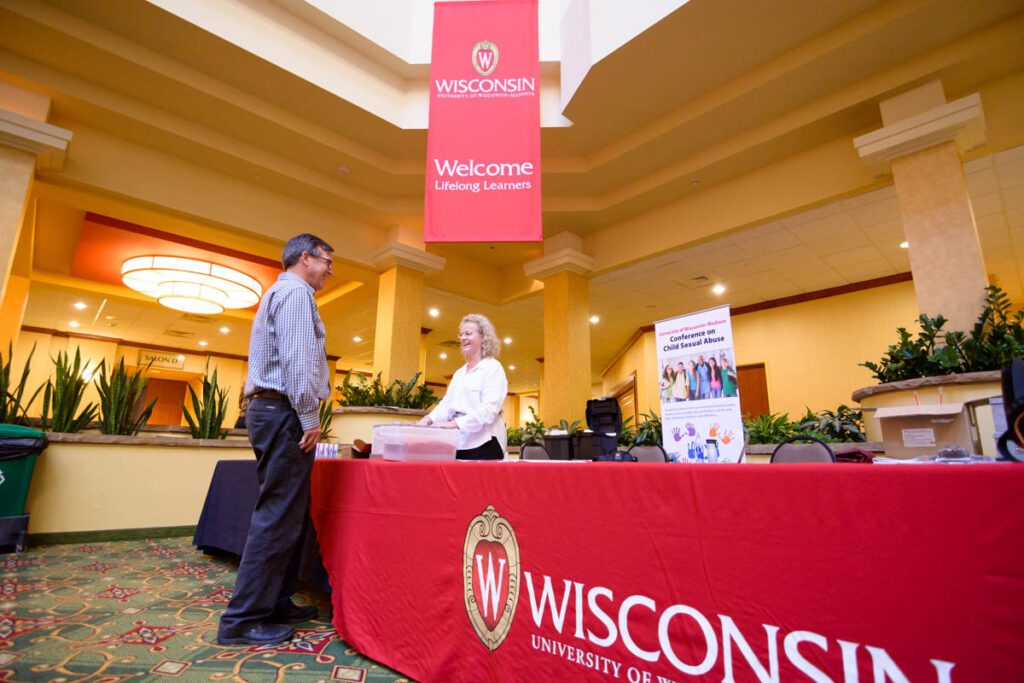 UW-Madison Continuing Studies booth