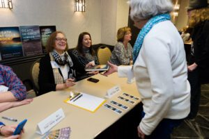 Patricia Skalka signing books