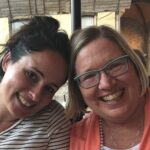 Barbara with her Italian teacher, Luisa