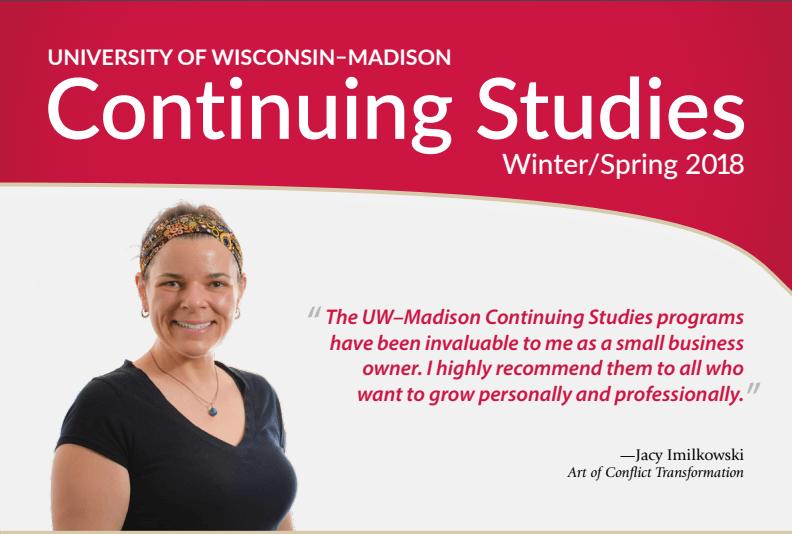2018 Spring Continuing Studies catalog cover