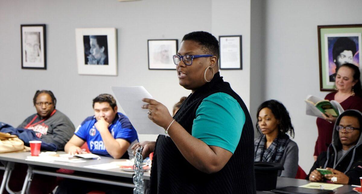 Tandalaya Taylor talking in class