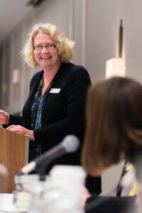 Writers' Institute Director Laurie Scheer