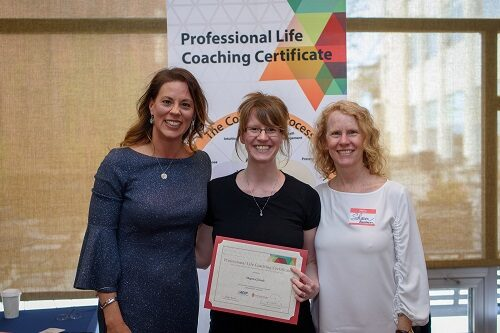 Professional Life coach graduate with certificate and teachers