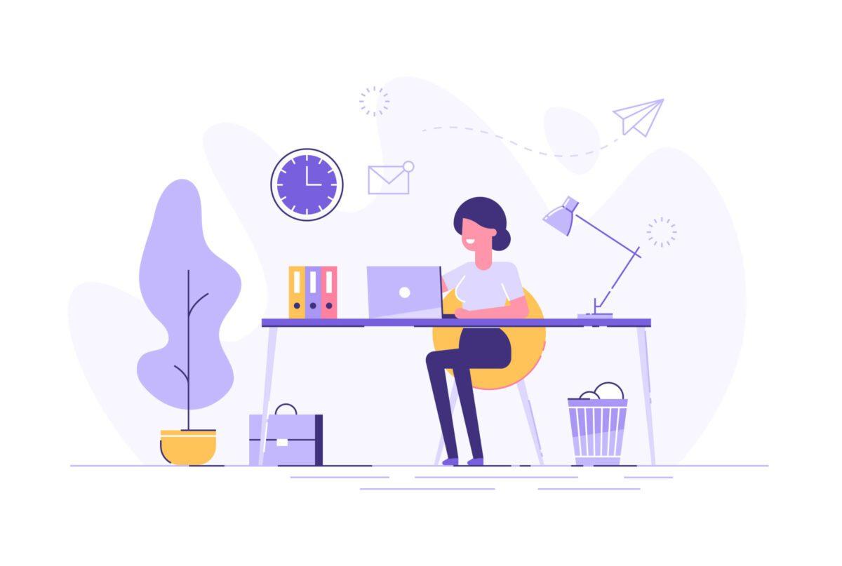 illustration of freelancer