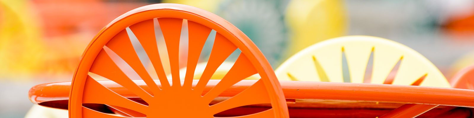 Chairs featuring an iconic sunburst pattern populate the Memorial Union Terrace at the University of Wisconsin-Madison
