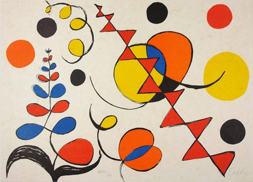 Untitled painting by Alexander Calder from La Memoire Elementaire