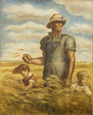 Painting 'Our Good Earth' by John Steuart Curry