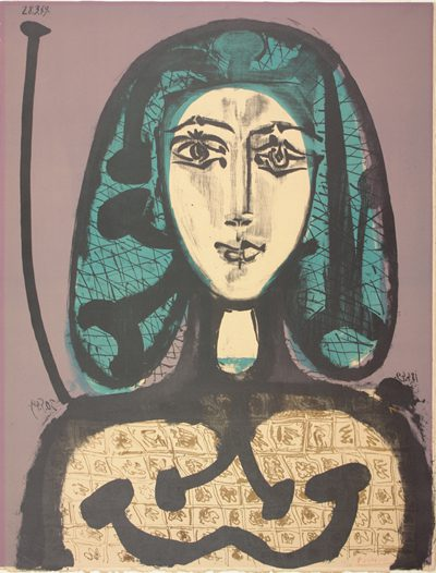 The painting 'The Woman with a Hair Net', (La Femme a la Resille) by Pablo Picasso