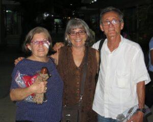 Cuba expert Greenberg with Cuban artist Orestes Larios Zaak