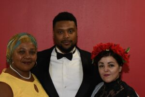 Night of the Living Humanities features Odyssey Project students Rene Robinson as Maya Angelou, Stanley Sallay as Frederick Douglass, and Sahira Rocillo as Frida Kahlo.