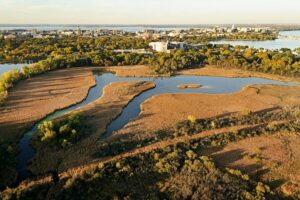 aerial view of UW-Madison Arboretum