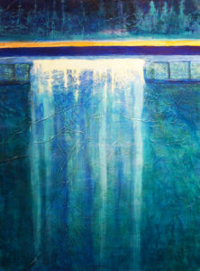 'Abstractly Aquatic,' by Mary Ann Inman, winner of the Berk Award.