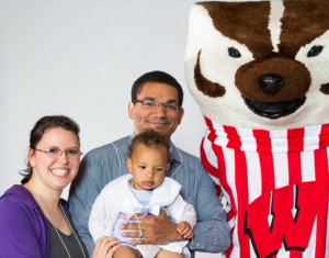 Michael Windle, with family and Bucky: 'Whatever we need, you guys are there for us.'