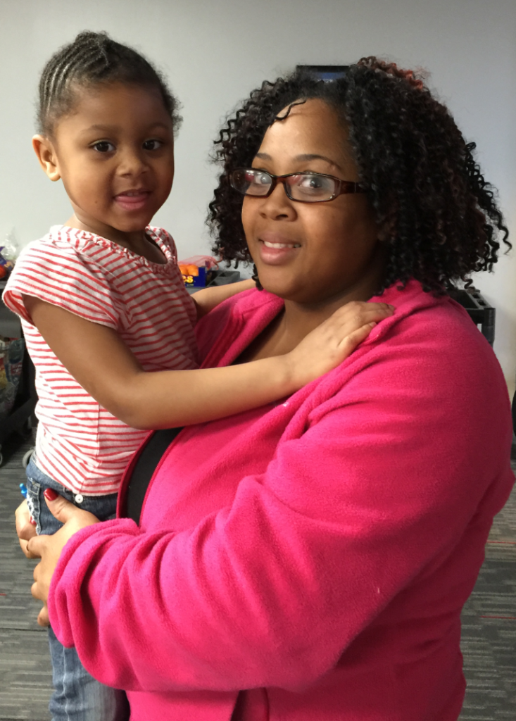 Asha Green and daughter Ashzianna