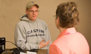 Job seeker John Vander Meer gets help from Adult Career and Special Student Services.