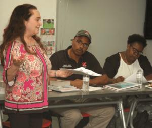 Emily Auerbach teaching