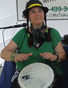 Taku Ronsman (also pictured at left in the photo above) says students can connect with their 'higher selves' in her School of the Arts workshops.