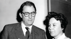 """Harper Lee and Gregory Peck during the filming of 1962's """"To Kill a Mockingbird."""""""