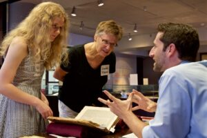 Student curators develop strategies for making their research engaging to an audience.