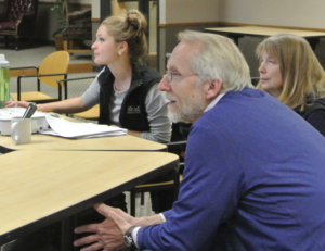 A climate change discussion at the DeForest Area Public Library.