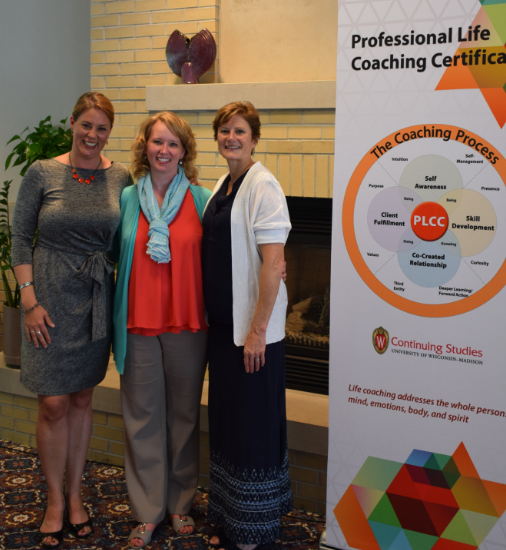 Darcy Luoma at the 2016 Professional Life Coaching Certificate program.