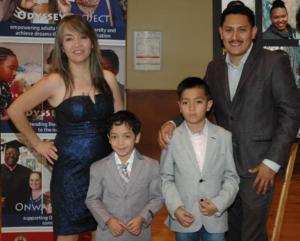 José Mendoza and his family