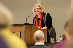 Laurie Scheer at Writers' Institute