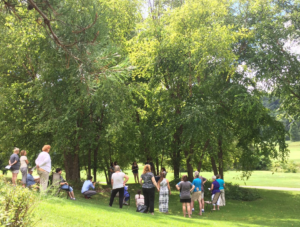 Shakespearience Weekend featured a workshop on 'King Lear' outdoors in Spring Green.